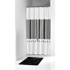 Sealskin Barcode douchegordijn 1800 x 2000mm zwart