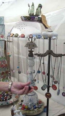 Display ideas from Junkin' Julie and Repurpose on Purpose
