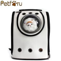 Petforu PU Leather Astronaut Breathable Pet Cat Carrier Backpack Portable Pet Shoulders Travel Bag Pet Product