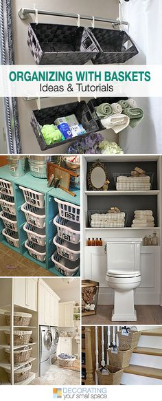 Organizing with Baskets • A roundup of great Ideas and Tutorials!