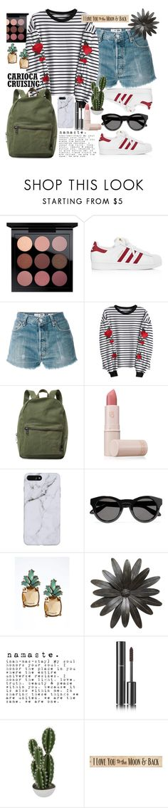 """2my youth"" by mxpesconi ❤ liked on Polyvore featuring adidas, RE/DONE, Herschel Supply Co., Lipstick Queen, Givenchy, Banana Republic, Chanel, Abigail Ahern and DutchCrafters"