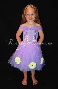 Sophia The First Inspired Tutu Dress Outfit by KenziesTreasures