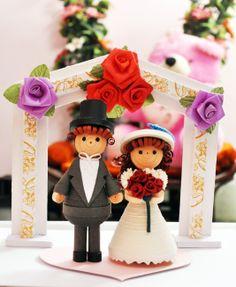 made by me n my siblings for my sisters wedding