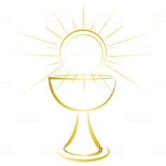 Gold design, first communion symbol for a nice invitation design. royalty-free gold design first communion symbol for a nice invitation design stock vector art & more images of chalice First Communion Invitations, Gold Invitations, Boys First Communion, Religious Pictures, Light Of The World, Free Vector Art, Easy Drawings, Invitation Design, Stencil