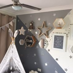 Elephant Nursery Boy, Moon Nursery, Star Nursery, Toddler Rooms, Baby Boy Rooms, Baby Boy Nurseries, Baby Room, Boys Bedroom Decor, Girl Bedroom Designs