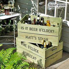 Personalised Crate - Drinks Storage Box  by Plantabox