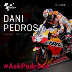 Ever wanted to ask @26_danipedrosa a question? Well here's your chance! // Use #AskPedrosa & leave a comment below for a chance to have your question answered by him in Thursday's pre-event press conference! #FrenchGP 👇 Repost by @motogp