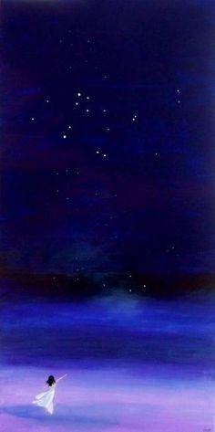 Starry Sky - oil on canvas by Ирина Дубровская