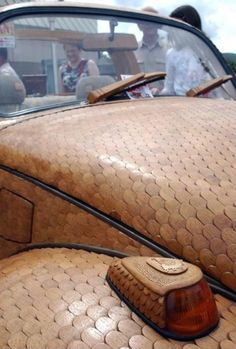 Car Enthusiast Shows-Off Drivable VW Beetle Made of Wood