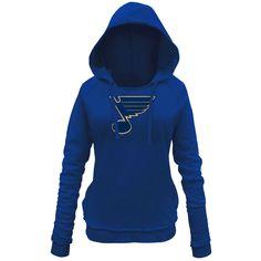 St. Louis Blues 5th & Ocean by New Era Women's Core Brushed Fleece Pullover Hoodie - Royal Blue