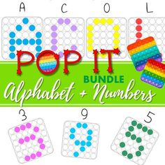 #popit #alphabet #abc #squarepopit #numbers #letterrecognition #numberrecognition #preschool #kindergarten #homeschooling Kindergarten Activities, Preschool, Number Recognition, Alphabet Worksheets, Learning Tools, Special Education, Classroom Decor, Numbers, Teaching