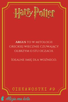 Imiona w Harrym Potterze - Argus Filch |  ciekawostki, zaskakujące fakty, odniesienia | #HarryPotter #ciekawostki #fakty #książki Jily, Wolfstar, Harry Potter Quotes, Hermione, Good To Know, Hogwarts, Brain, Humor, Memes