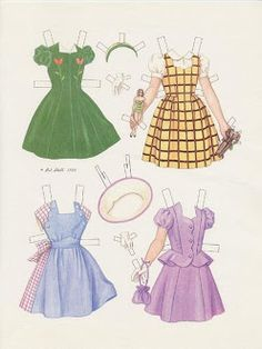 Cookie Models Frocks from the Barbara Bell Fashion Book Fall/Winter 1947, paper  doll by Pat Stall (2 of 2)