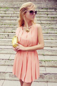 Soft Pink & yellow.