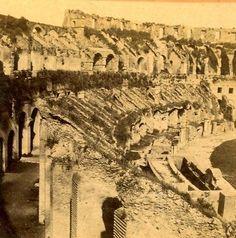 Coliseum-Roma-Rome-Italy-old-Stereo-Photo-1875