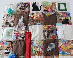 Alzheimers fidget quilt, dementia activity pad, activity quilt, busy quilt, sensory blanket, nursing home, handmade gift, made USA