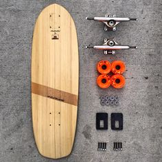 Bamboo cruiser skateboard handcrafted in California from sustainable materials.