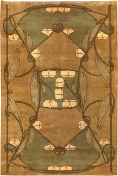 Glen Mona 2 designed by Archibald Knox in 1904. Hand-knotted wool. 8'x10' for $3520.