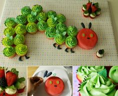 The Very Hungry Caterpillar Cake- this is too cute for summer parties or little ones birthday cakes!