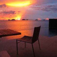 Beautiful #sunset from your #PoolVilla terrace #ConradKohSamui