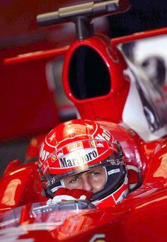 Michael Schumacher in his Ferrari.