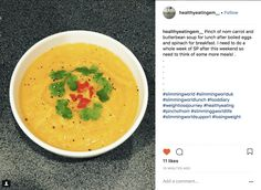 Carrot and Butter Bean Soup - Pinch Of Nom Slimming Recipes Butter Bean Soup, Butter Beans, Diet Recipes, Cooking Recipes, Cooked Carrots, Slimming Recipes, Food Diary, Meal Planner, Food Print