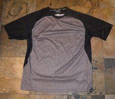 Mens DAKINE Shop Charger Gray Black Mountain Bike Cycling Jersey Size XL EUC