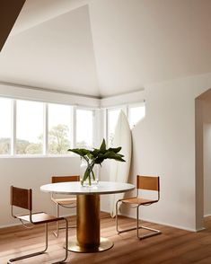 simple geometry small dining area