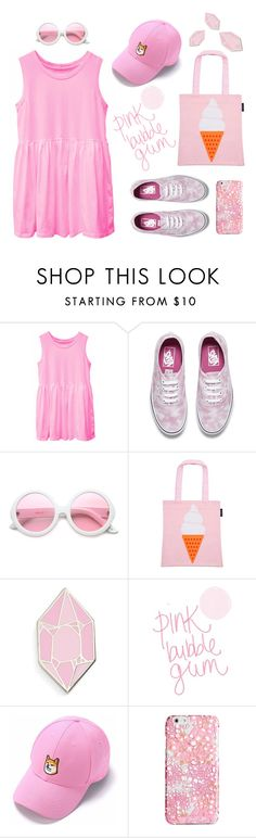 """""""Pink bubble gum"""" by ayukatz ❤ liked on Polyvore featuring Vans, ZeroUV, Sunnylife, Big Bud Press, Vera Bradley, Pink and oontood"""