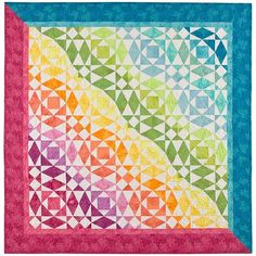AccuQuilt       with cool quilt, Adriana Blake and Art Gallery Fabrics.