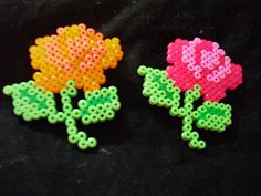Hama beads - Flowers roses  by Lundebaby