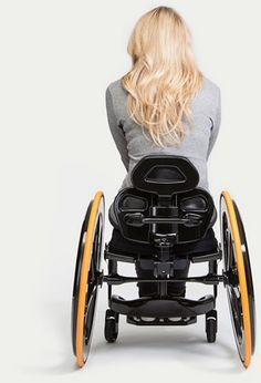 Carbon Black lightweight wheelchair is made of carbon fibre. Custom built for perfect comfort, usability and practicality. Lightweight Wheelchair, Manual Wheelchair, Wheelchair Accessories, Scooter Custom, Adaptive Equipment, Mobility Aids, Spinal Cord Injury, Crutches, Scooter Girl