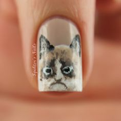 Hehe!! grumpy nails are cute but did you know you can use Jamberry Nail art studio to create any nail design using a picture  http://christinagarner.jamberrynails.net