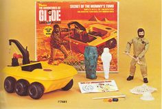 gi joe curse of the mummy's tomb 1970 | GI Joe even had a couple, but heavily modified by Hasbro. There was ...
