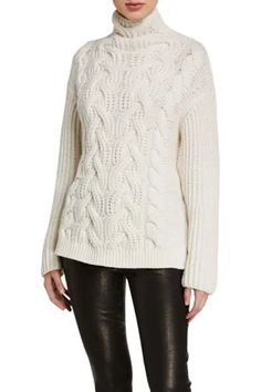 Women's Sweaters Chic Week Sale at Neiman Marcus Tank Shirt, Sweater Design, Cable Knit Sweaters, Helmut Lang, Neiman Marcus, Autumn Fashion, Turtle Neck, Pullover, Wool