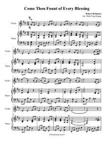 Come Thou Fount of Every Blessing: For violin and piano by folklore love this song! Violin Sheet Music, Piano Music, Come Thou Fount, Music Class, Teaching Music, Quotable Quotes, Folklore, Love Songs, Blessing