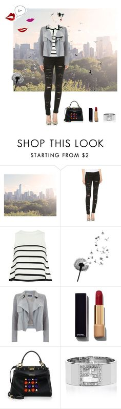 """""""Untitled #28"""" by shoelover220 ❤ liked on Polyvore featuring WALL, Timorous Beasties, Blank Denim, Cardigan, Mint Velvet, Chanel and Fendi"""