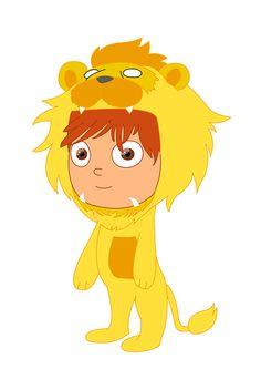 the boy with lion piyamas
