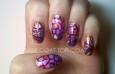 BASE COAT TOP COAT: pink + purple ombre layered!