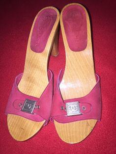 Chanel Logo Wooden Mules/ Heels  | eBay