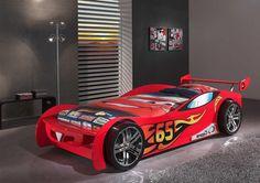 Autobett / Kinderbett Speed-65 mit Spoiler in Rot