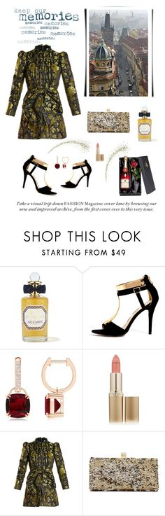 """Prague"" by nicolesynth ❤ liked on Polyvore featuring PENHALIGON'S, L'Oréal Paris, Gucci, Jimmy Choo, travel, city, Europe, czechrepublic and Prague"