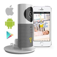 Video Baby Monitor Camera Compatible With iPhone & Android. Wifi Enabled Nanny Cam 2 Way Talkback With Motion activated Cell Alerts. Ash Gray