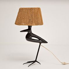 Roger Capron - Bird shaped table lamp, circa 50s  http://www.galerieriviera.com