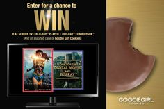 Get Your Movie Snackin' On with Goodie Girl Cookies Enter for a chance to win a Flat Screen TV | Blu-ray™ Player | Wonder Woman Blu-ray™ Combo Pack AND a Case of Gluten-Free Goodie Girl Cookies. ENTER TODAY! http://www.goodiegirlcookies.com/wonderwoman