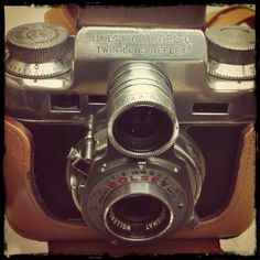 The 1950 Bolsey Model C, a 35mm TLR & rangefinder camera with a Wollensak Anastigmat 44mm/3.2 taking lens