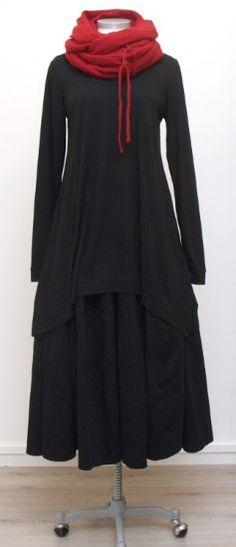 azizi - tunic wool jersey A-line black - Winter 2015
