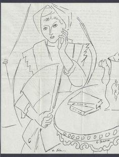 Gino Severini Dessin SUR Lettre Originale DU '40 D'Après | eBay