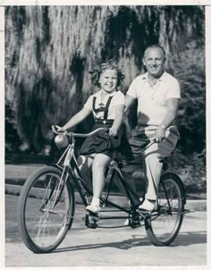 Shirley Temple with her Father, George Temple, c. 1930s.
