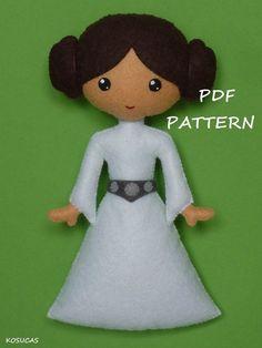 STAR WARS - FELT / FEUTRINE / VILT - <3 <3 - PDF pattern to make a felt Princess Leia by Kosucas on Etsy